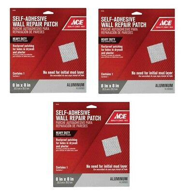 Wall Repairs Drywall Repair Adhesive Patch Fix Hole Damage ~ 3 Patches