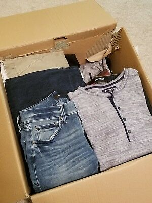 Mens Clothing Lot Small Used Brand Names. Express, Obey, North Face, Crooks and