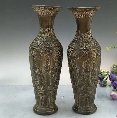 China  Ancient  bronze  Ancient women  A pair of vases