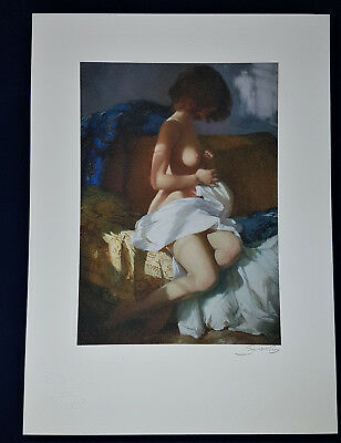 Erotik shy woman Nude Sexy fine art Litho Collection Erotic Drawing Signed