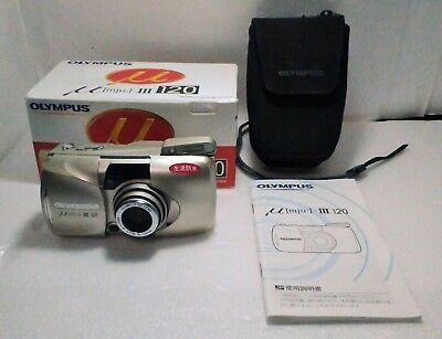 【Mint In Box】Olympus MJU III 120 35mm 38-120mm compact Camera From Japan #304