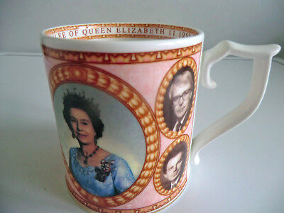 Limited Edition Sutherland Fine Bone China Mug Jubilee Prime Ministers 1952-2002