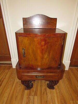 Antique Bow Fronted Bedside Cabinets