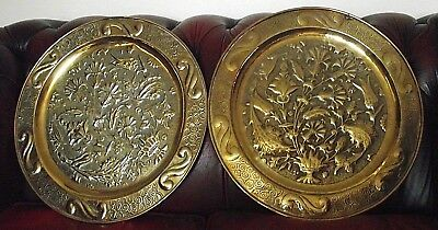 early pair of keswick school of indusrial arts chargers by john birkett crafts