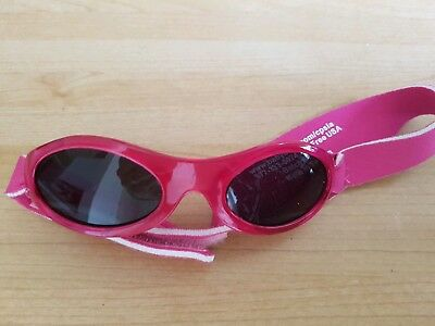 Baby Banz girls infant sunglasses pink 0-2 years