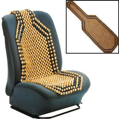 Beaded Wooden Front Massage Seat Chair Cover Cushion Car Office Home Black New