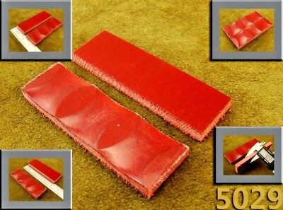 """5"""" Pair of Light Red Canvas Micarta Wood Scales Handle Making Blanks Craft (5029"""