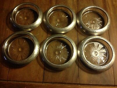 STERLING Silver Coasters FRANK WHITING & CO. Set of 6 Coasters 925