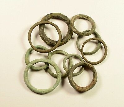 Exchange Before Coins - Rare Lot Of 10 Celtic Bronze Proto-Money Rings