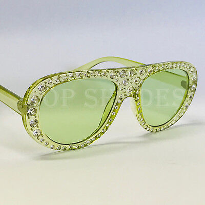 3b94e6ca46a Aviator Round Frame Bling Rhinestone Women Fashion Designer Diamond  Sunglasses