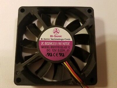 Bi-Sonic BS701512L-02 DC 12V 0.22A 70mmx70mmx15mm Cooling Fan