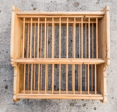 Antique Pine Plate Rack