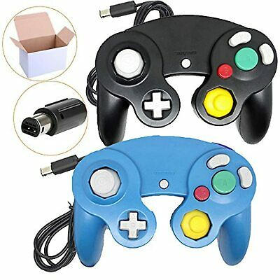 Lot Of 2 Packs Classic Ngc Wired Controllers For Wii GameCube Black And