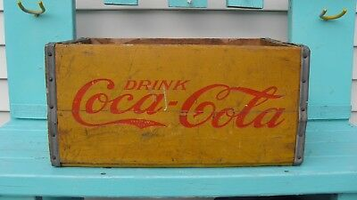 Coca Cola Coke Crate New York, NY  (weathered with wear) 8 lb. weight.