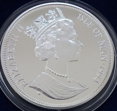 IOM sterling silver proof 1 crown coin D-DAY commemorative 1994