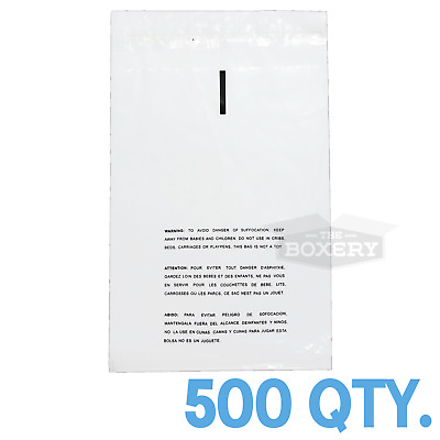 500 10x12 Self Seal Suffocation Warning Clear Poly Bags 1.5 mil Free Shipping