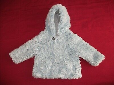 Girls Next Light Blue Fluffy Jacket Age 2-3 Years