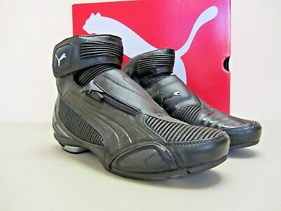 Puma Testastretta II - Size 7 US - Black Motorcycle Shoes - CLOSEOUT