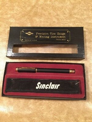 Vintage Sinclair Tire Gauge Pen Combo Never Used