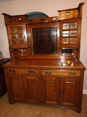 A Stunning Arts & Crafts Solid Golden Oak Sideboard Dresser C1900