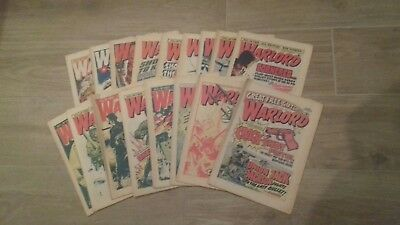 WARLORD COMICS x17 ISSUES FROM 1976.