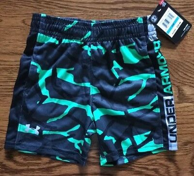 Nwt Under Armour Boys Heat Gear Patterned Shorts Size 24 Months Msrp $22.99