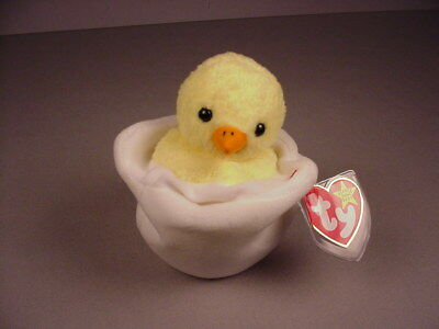 75a19a2fbdc Ty Beanie Baby Babies Eggbert baby chick egg Mint with Tags MWT NWT Easter  1999