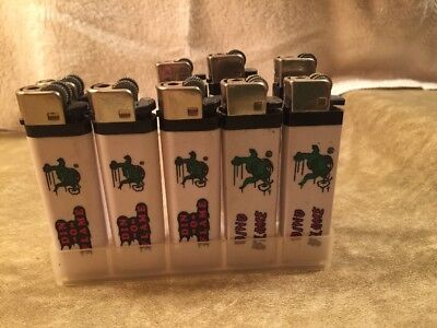 Vintage Sinclair Gas Dino Lighters In Display Holder Lot Of 9