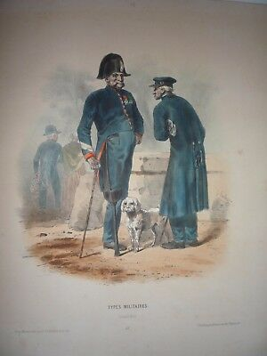 "F-H. Lalaisse. "" Types Militaires, Invalides ."" Very Rare. 1855."