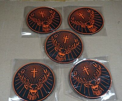 "NEW Set of 5 Jagermeister Rubber 4"" Coasters Deer Head Logo Jager Bomb"