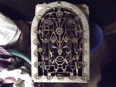 Large Antique Cast Iron Arch Top Dome Heat Grate Wall Register