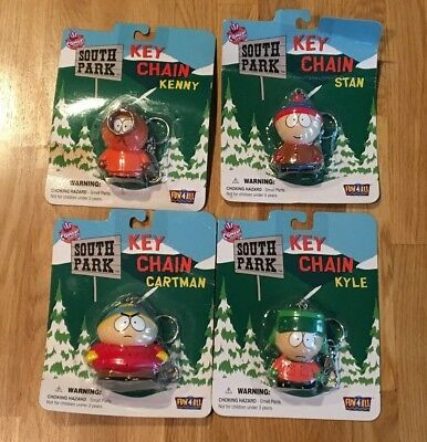 Key Chain Set South Park * by Fun 4 All * 1998 MISP New Sealed - All 4 in Set!