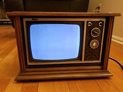 "RCA Mini Console 9"" TV Television Works Vintage Excellent Condition Retro Gaming"