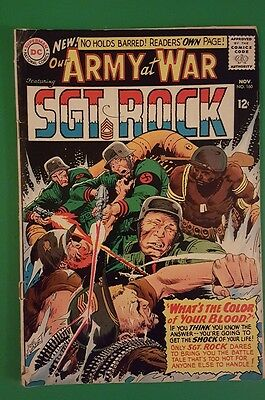 Our Army At War #160 - Sgt Rock -  Boxer Jackie Johnson - DC 1965 FN
