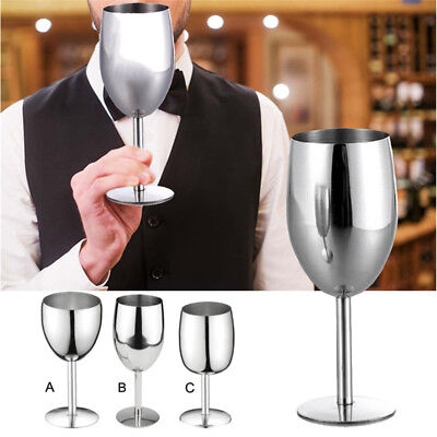 Wine Glass Stainless Steel Goblet Wineglass Drinking Cup Mug Kitchen Wine Tool