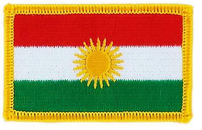 Patch embroidered Patch Flag KURDISH KURDISTAN Thermoadhesive Badge Coat of arms