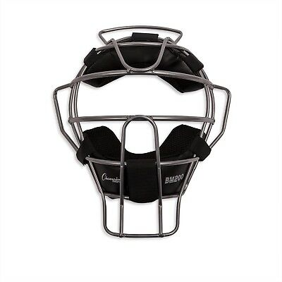 Champion Sports Lightweight Umpire Face Mask, Silver
