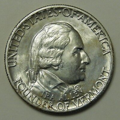 1927 Vermont Sesquicentennial Half Dollar ~ BU~  50 Cent Silver Commemorative