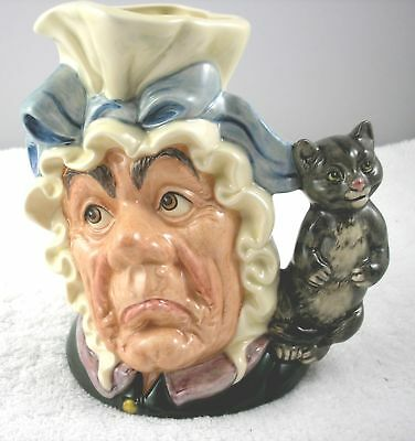 Royal Doulton Large Cook & Cheshire Cat Alice in Wonderland Character Toby Jug