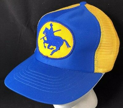 Vtg RCMP Mesh Trucker Hat Snapback Patch Cap Canadian Police Musical Ride 1980s