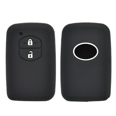 Silicone Key Case Cover For Toyota Land Cruiser Camry Prius Fob Remote 2 Button
