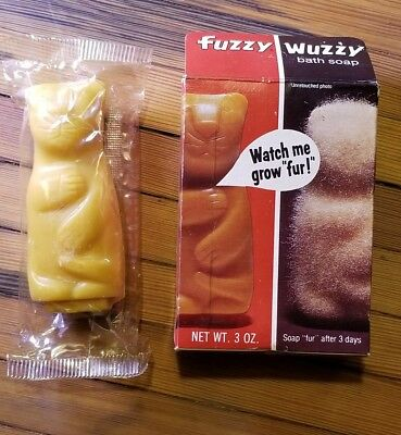 """Fake  Vintage 1960's """"Fuzzy"""" 1974-2018 ]Bear Soap """"Cat"""" You can buy at Wal-Mart"""