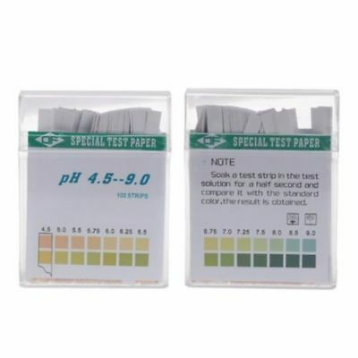 100 PH Indicator Test Strips 4.5-9 Paper Litmus Tester Laboratory Urine & Saliva