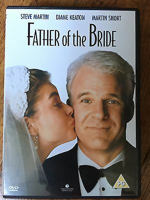 Steve Martin Diane Keaton FATHER OF THE BRIDE ~ 1991 Family Comedy UK DVD