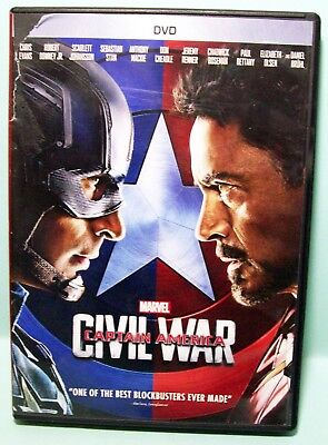 Disney Marvel Captain America: Civil War DVD 2016 with Movie rewards Chris Evans