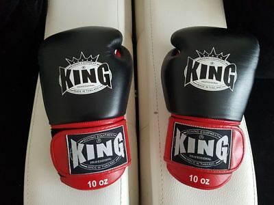 King boxing gloves leather 10oz muay thai