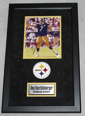 babd899ae1e Ben Roethlisberger Autographed Signed Framed Pittsburgh Steelers 8x10 Photo  COA
