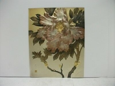 Pure gold, pure silver, a metal engraving product. Peony. SYUUGYOKU's work