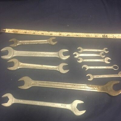 Vintage Antique Wrench Lot 10 Pieces U.S.A tools. Old 1940's 1950's American usa