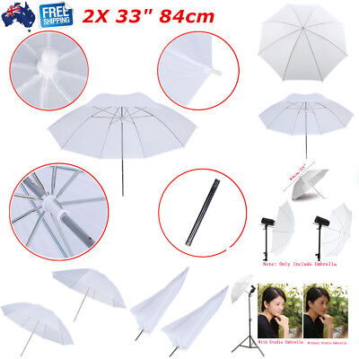 "2pcs 33"" 84cm Photography Soft Umbrella Shoot Through for Studio Speedlite Flash"